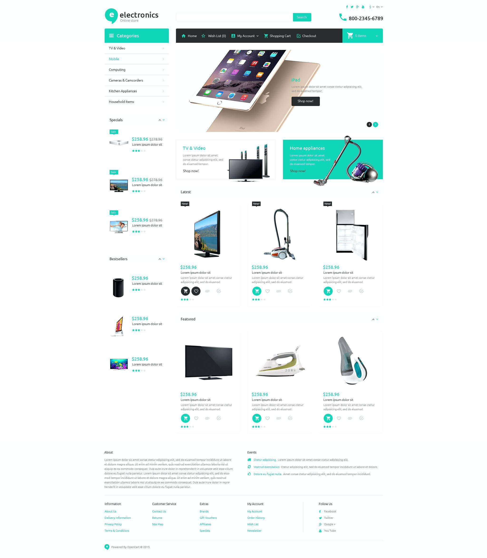 Simple Bootstrap Template Ecommerce
