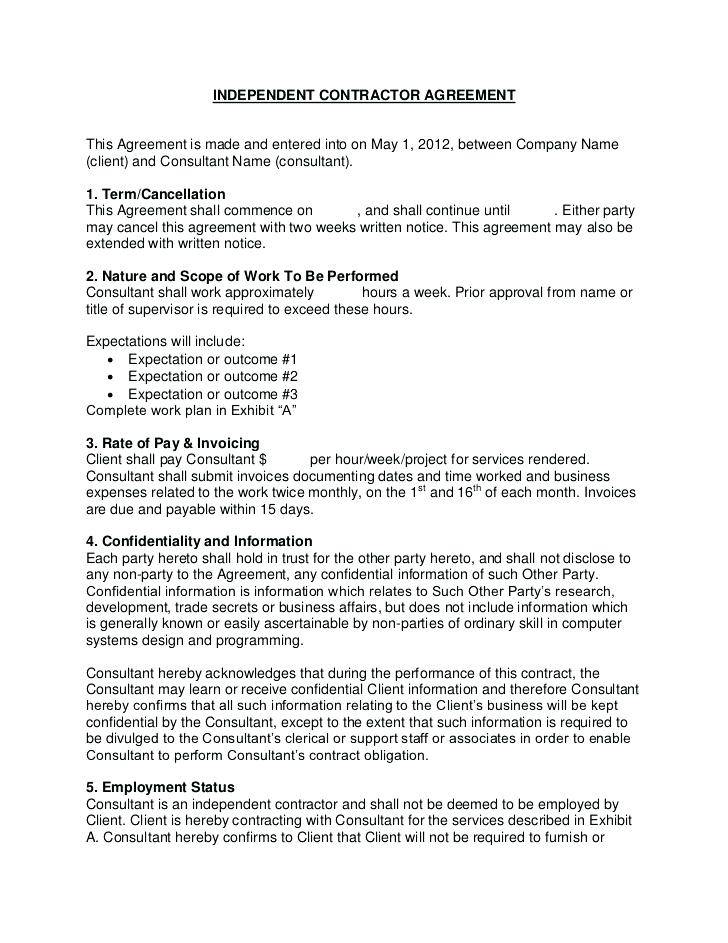 Simple Consulting Agreement Template Free