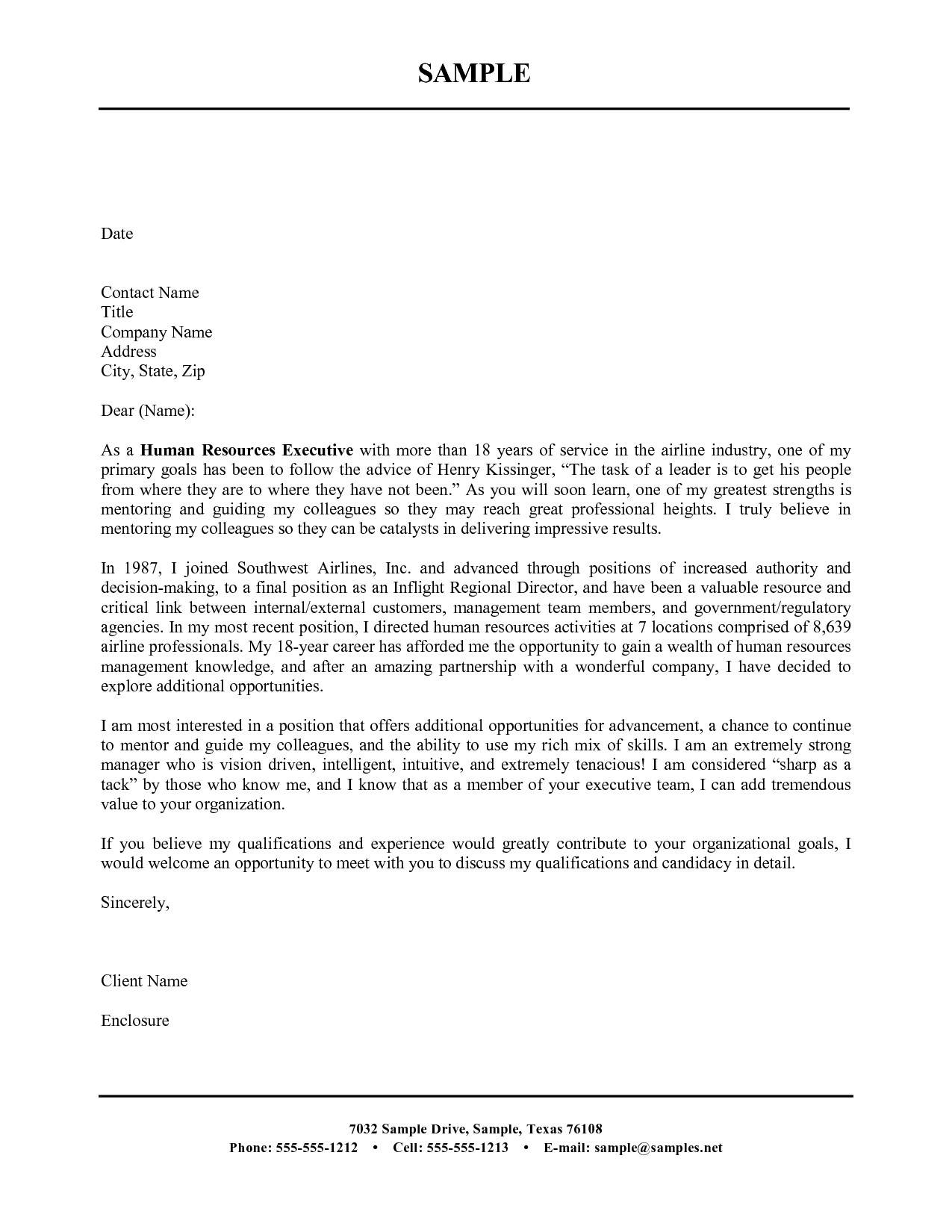 Simple Cover Letter Templates Free
