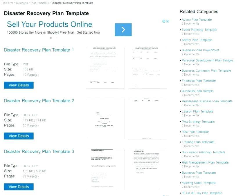 Simple Disaster Recovery Plan Template For Small Business Uk