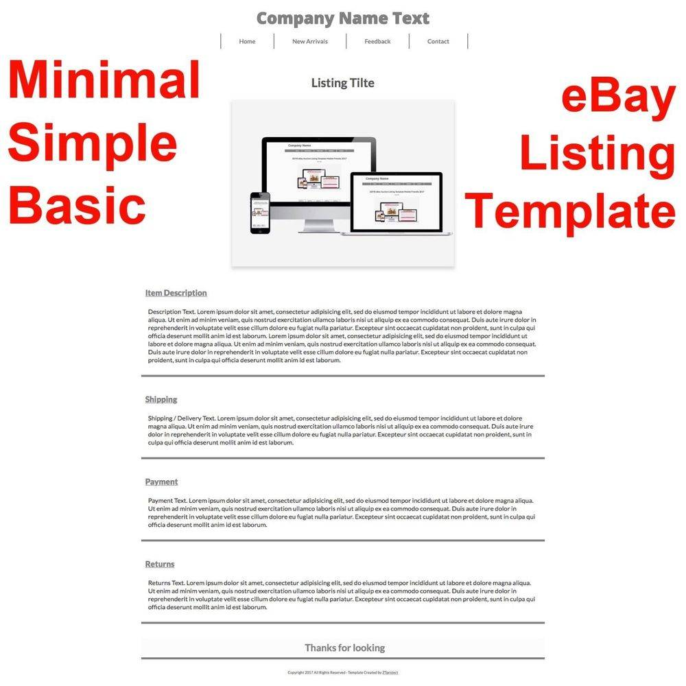 Simple Ebay Auction Template