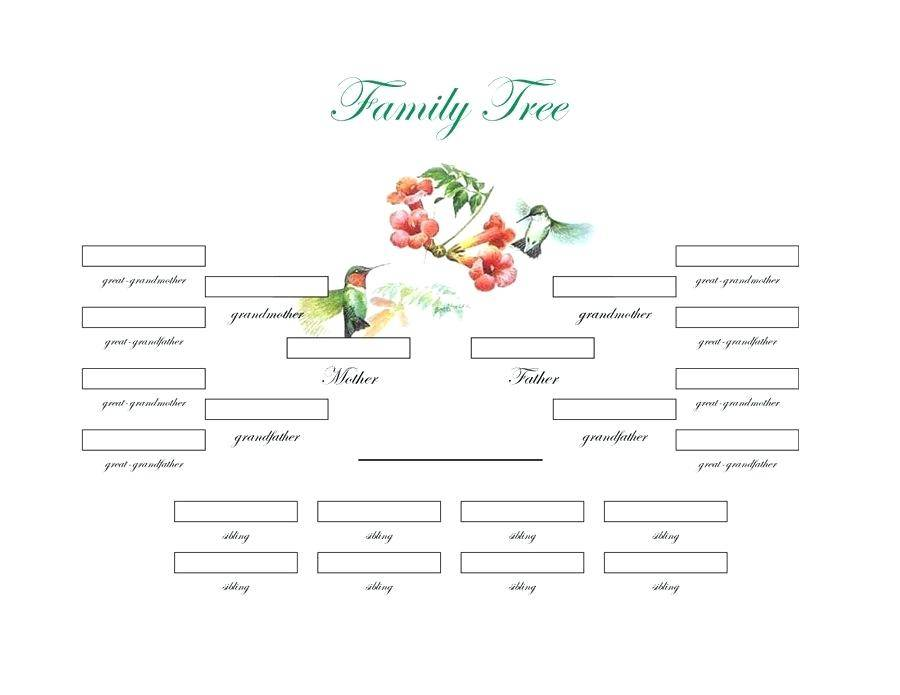 Simple Editable Family Tree Template