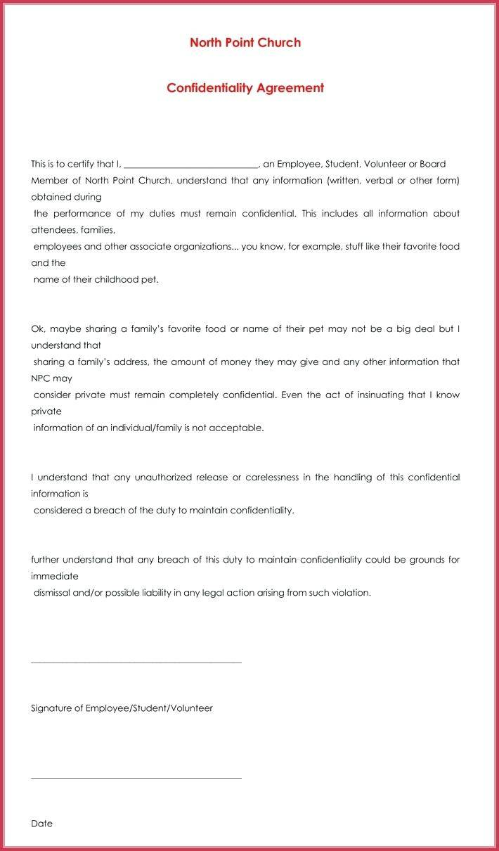 Simple Employee Confidentiality Agreement Template