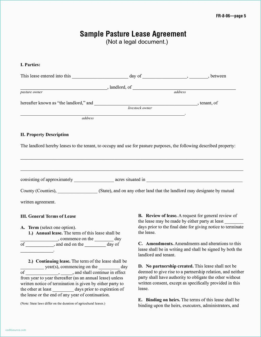 Simple Equipment Lease Agreement Template