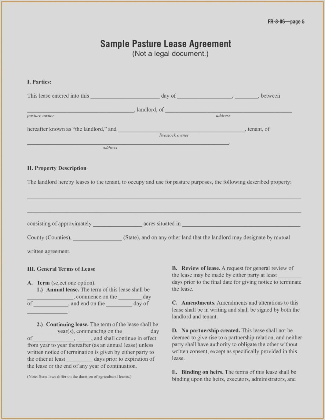 Simple Farm Lease Agreement Form