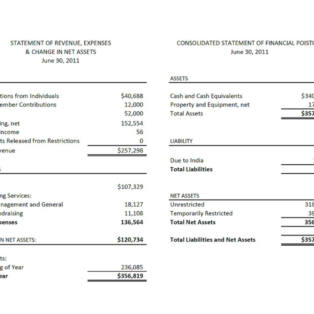Simple Financial Report Template Excel