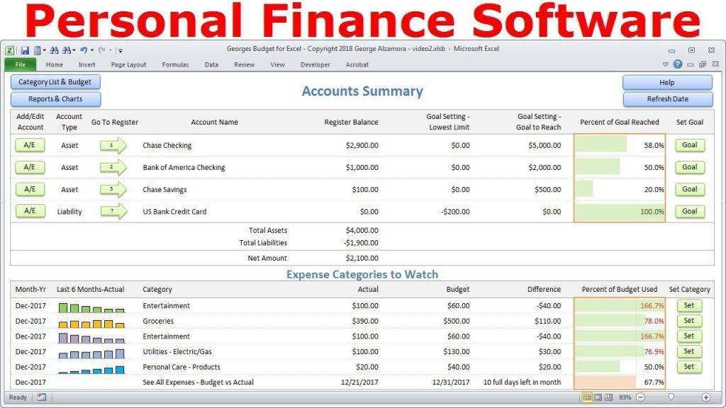 Simple Financial Spreadsheet Template