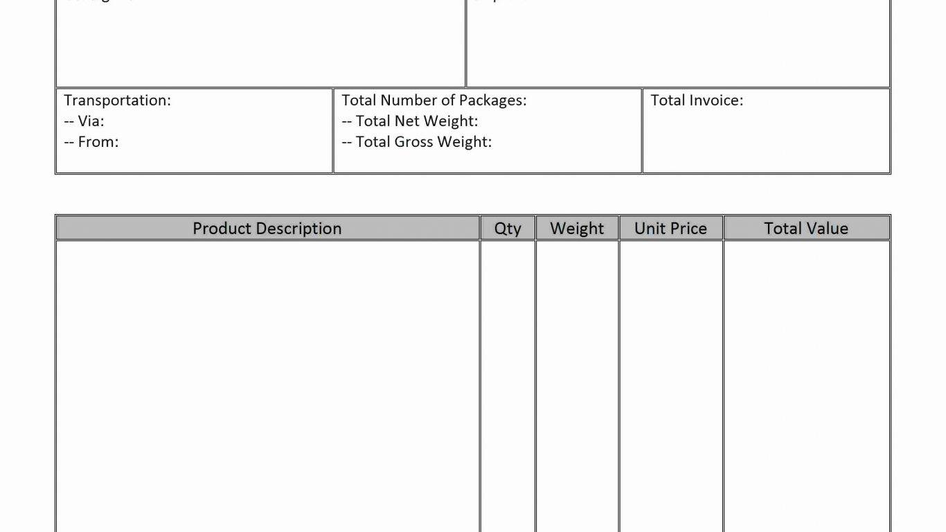 Simple Hourly Invoice Template
