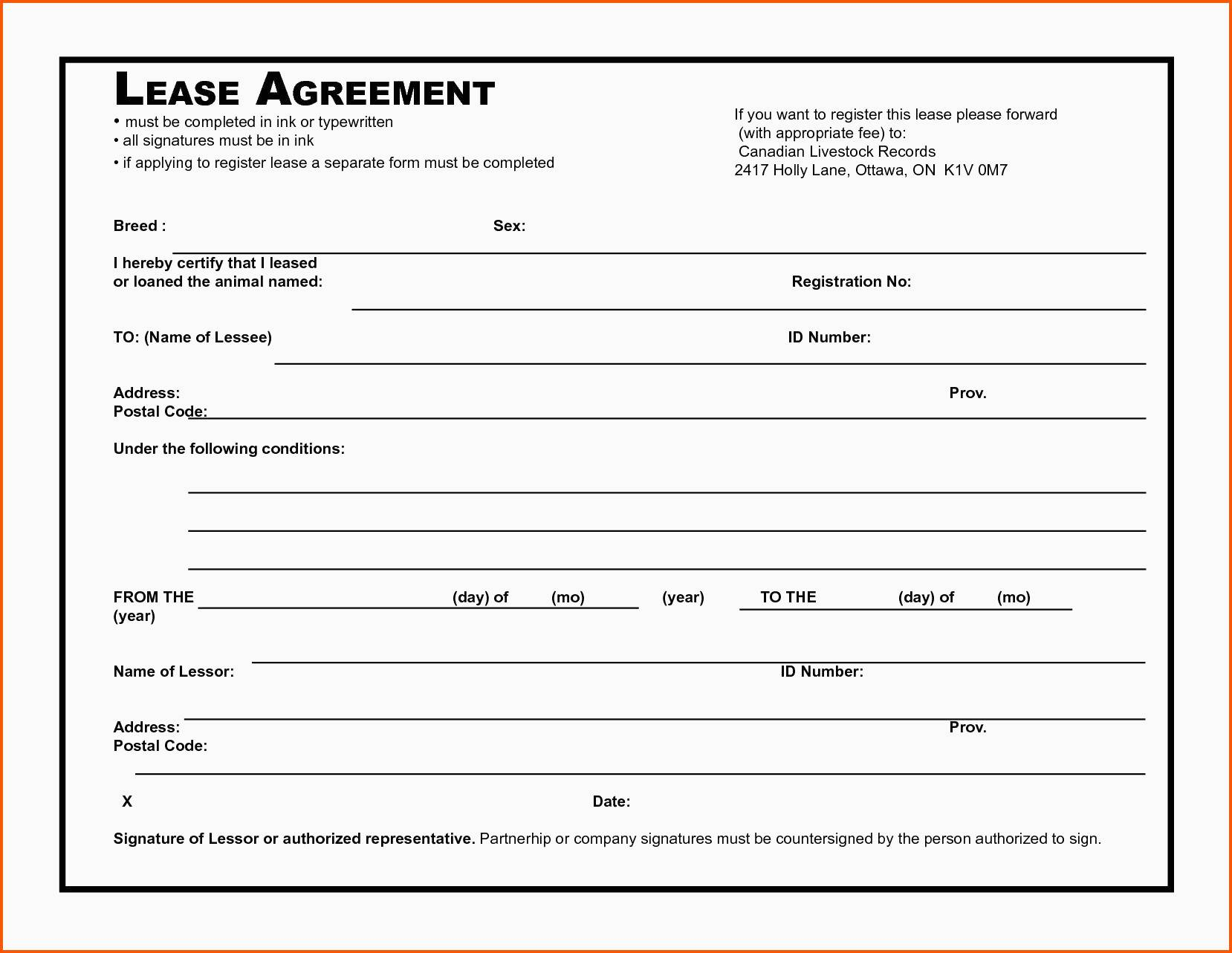 Simple Land Lease Agreement Template Free