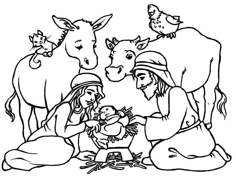 Simple Nativity Scene Templates