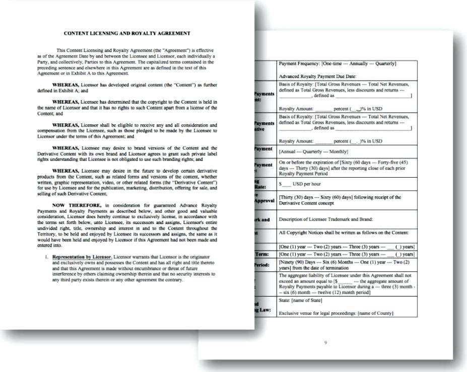 Simple Patent License Agreement Template