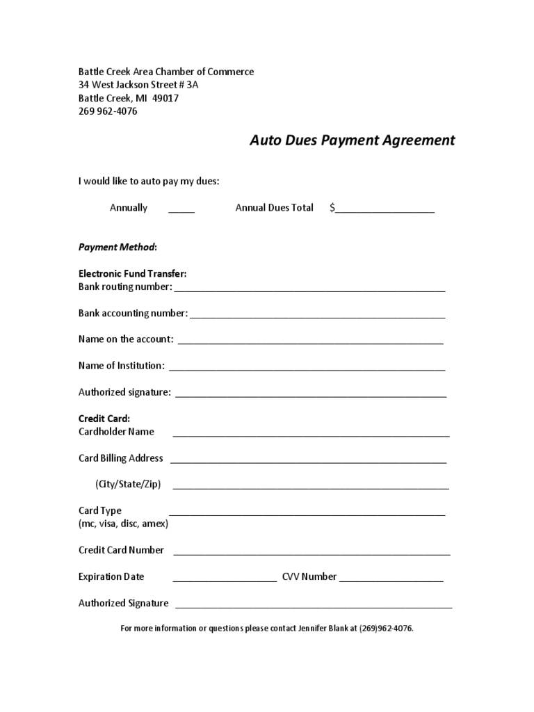 Simple Payment Agreement Form Pdf