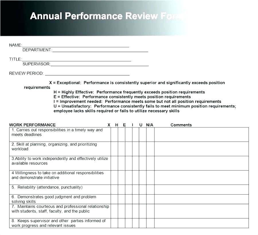 Simple Performance Appraisal Format