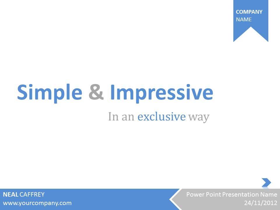 Simple Presentation Slides Templates