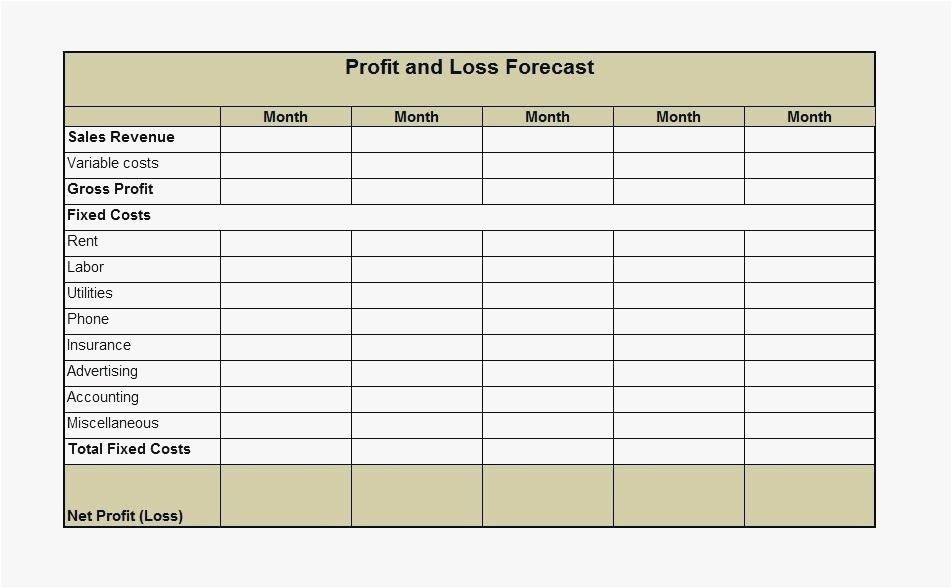 Simple Profit And Loss Account Template Excel