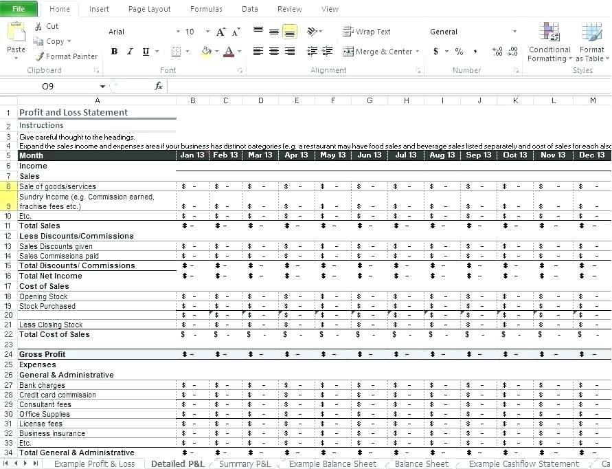 Simple Profit And Loss Statement Template Uk