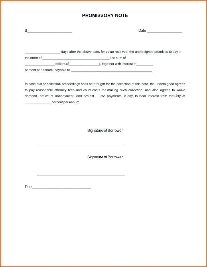 Simple Promissory Note Form Pdf