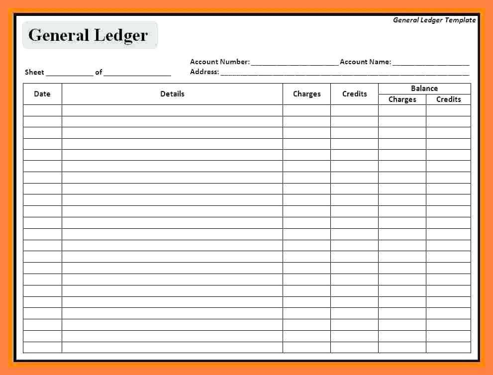 Simple Purchase Ledger Template