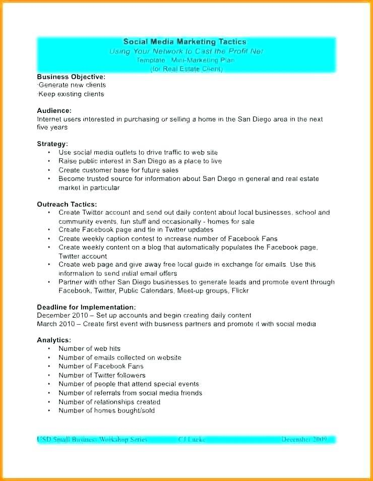 Simple Sales Account Plan Template