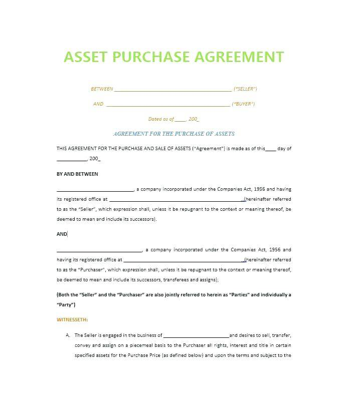 Simple Sales Agreement Template Word