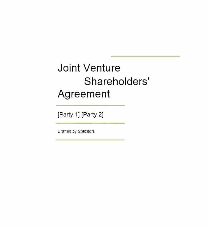 Simple Shareholder Agreement Template