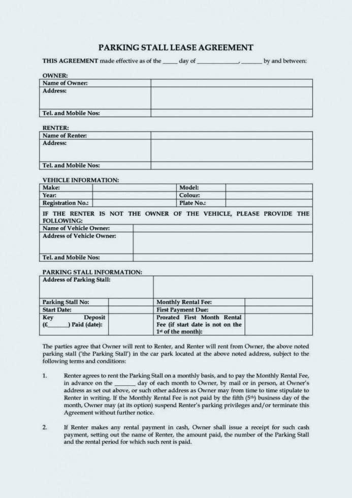 Simple Short Term Rental Agreement Form