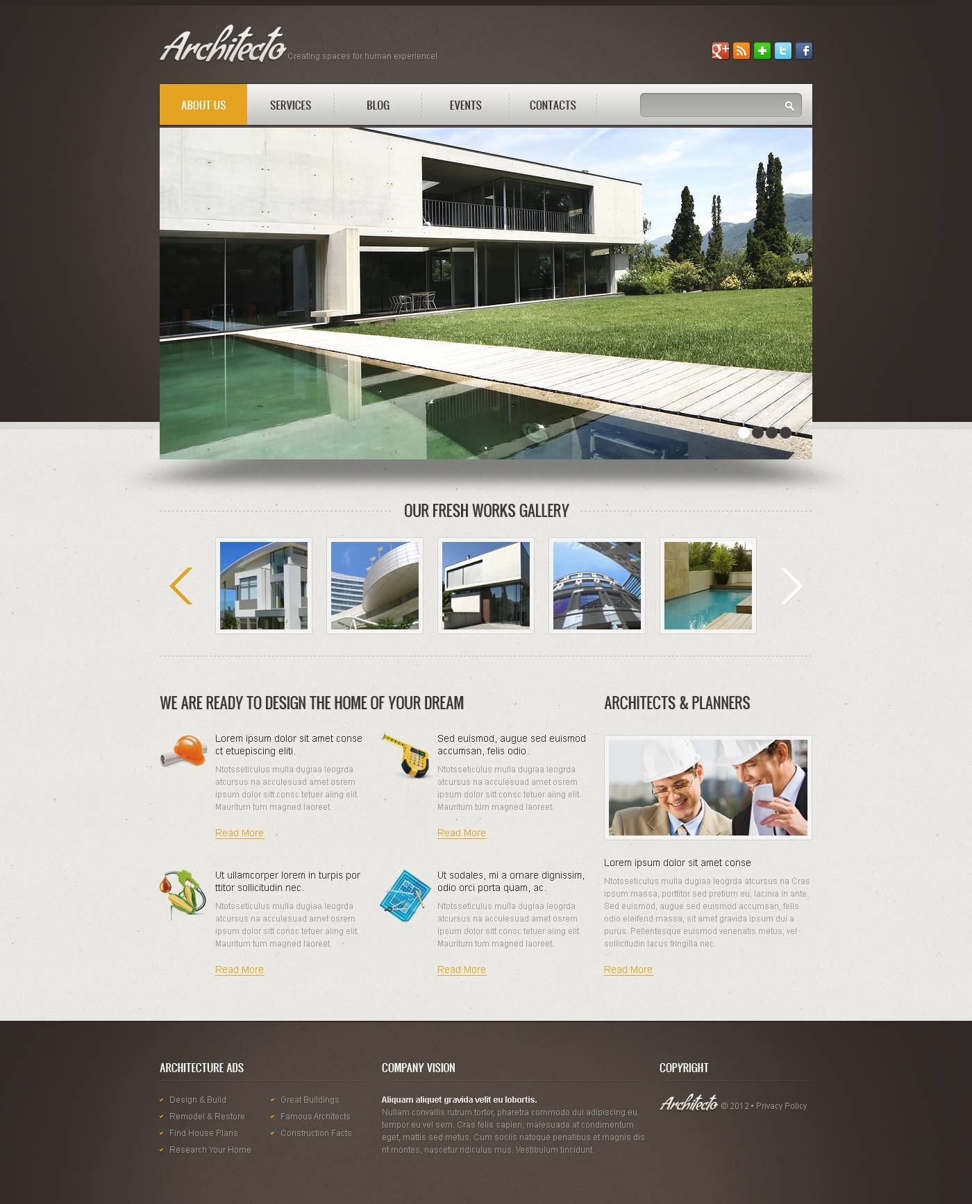 Simple Slideshow Website Template
