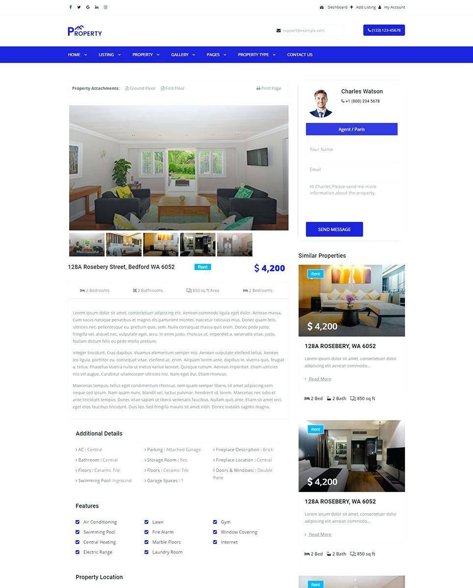 Single Property Websites Templates