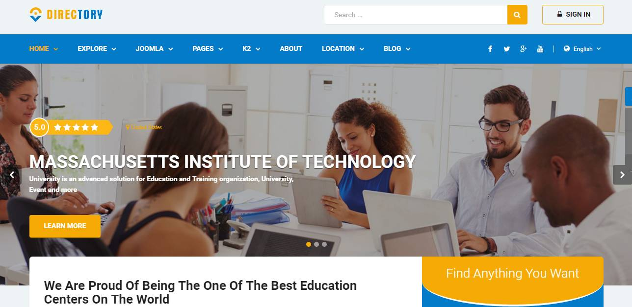 Sj Directory Joomla Template