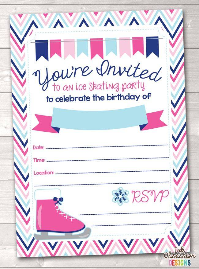 Skating Party Invitations Templates