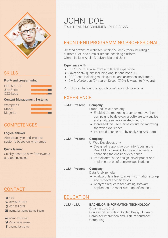 Skills Based Cv Template Free