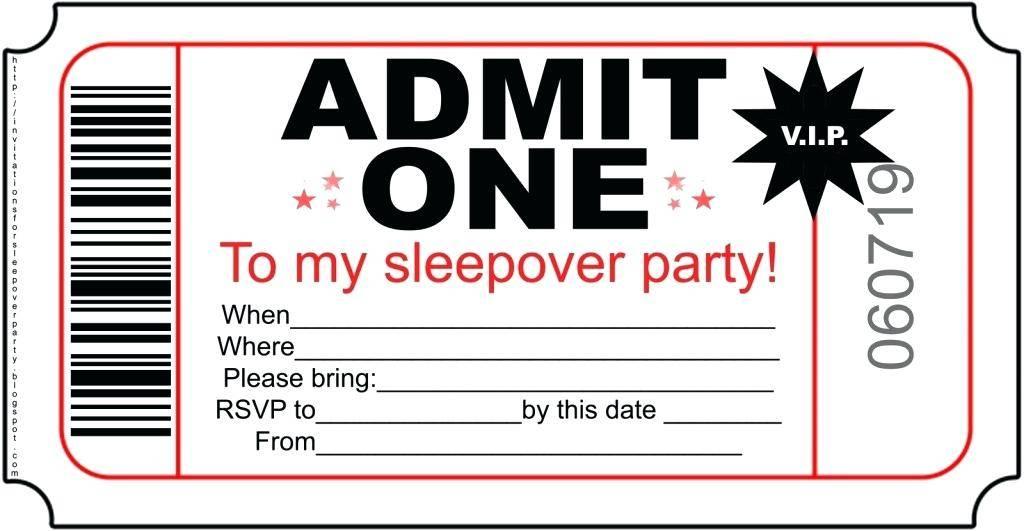 Sleepover Template Invitations Free