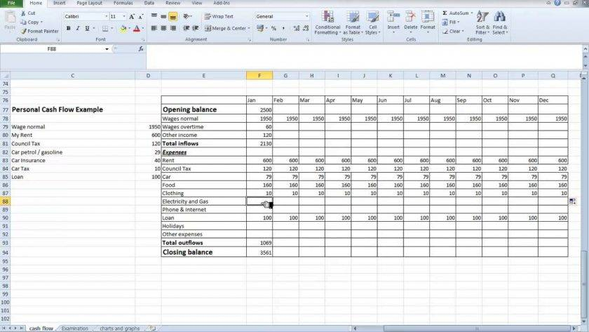 Small Business Cash Flow Spreadsheet Template