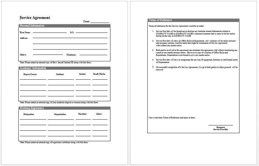 Small Business Contracts Samples