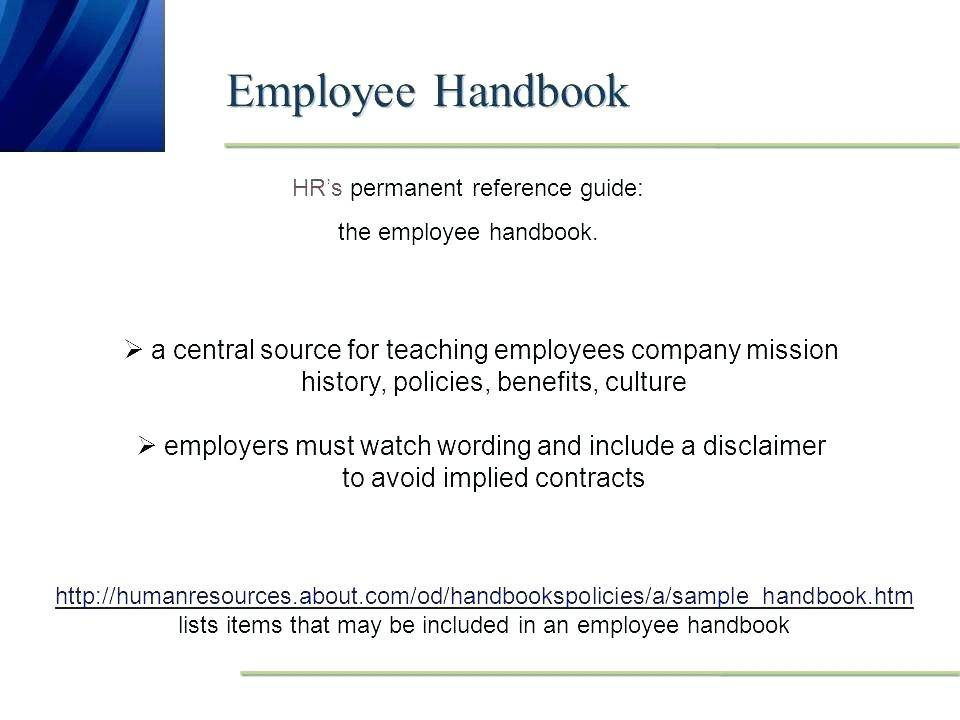 Small Business Employee Handbook Examples