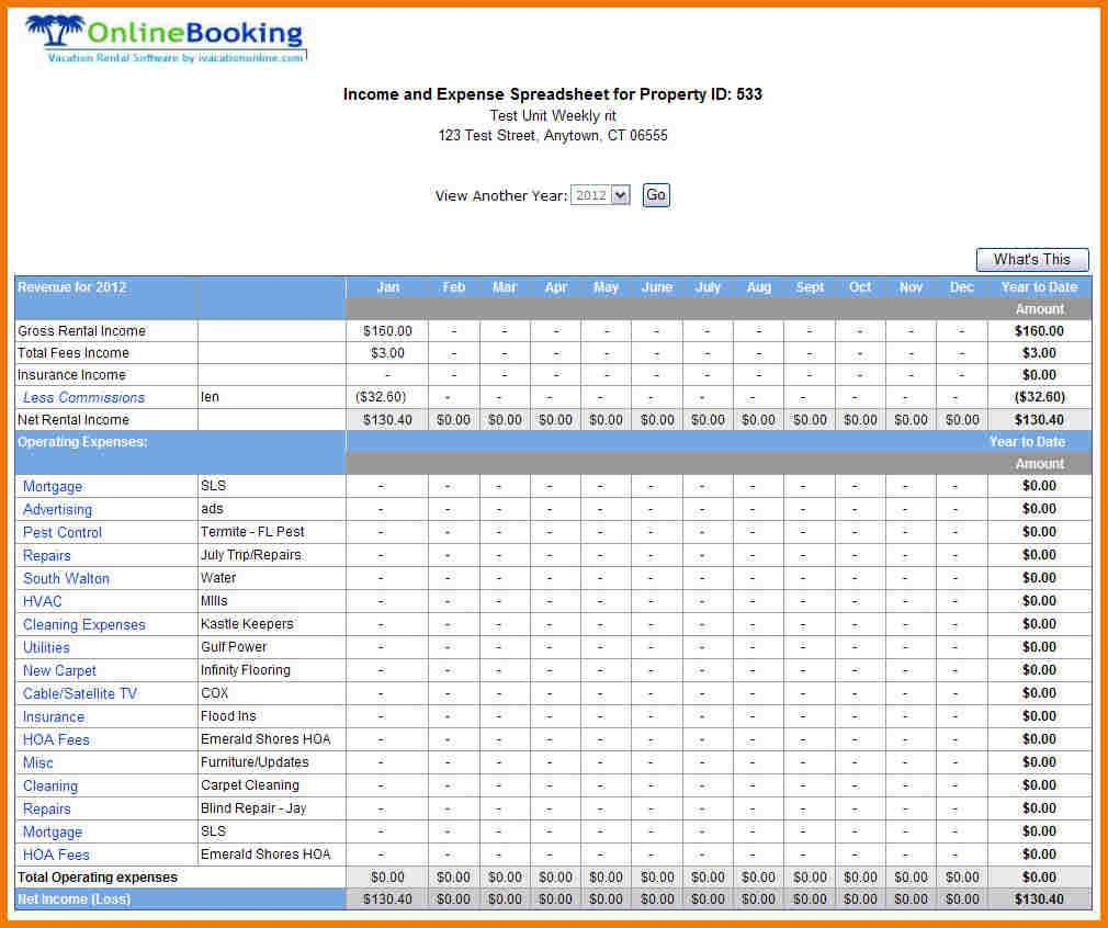 Small Business Excel Spreadsheet Accounting Template