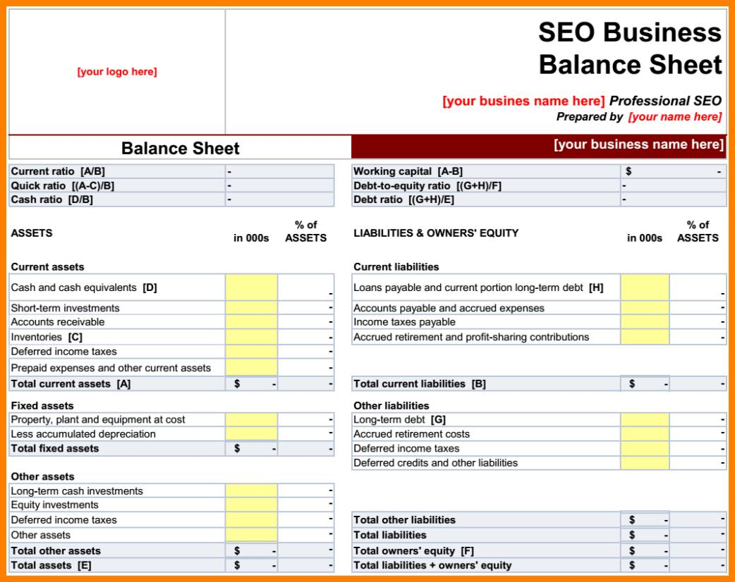 Small Business P&l Template