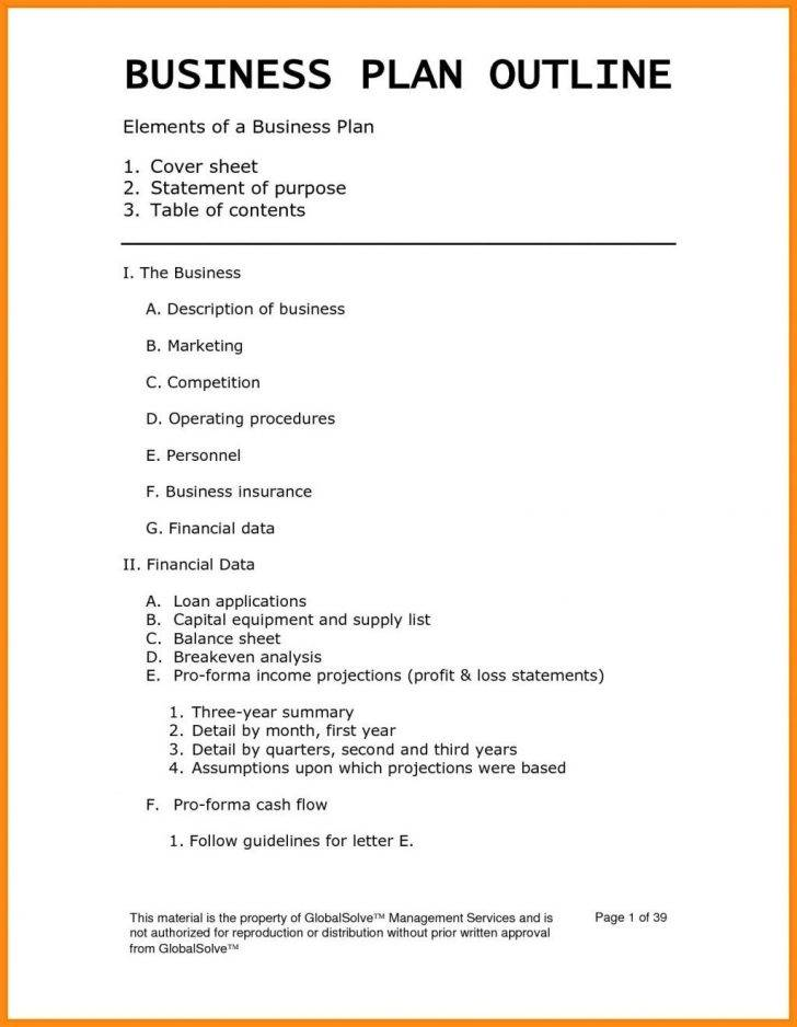Small Business Plan Template Download