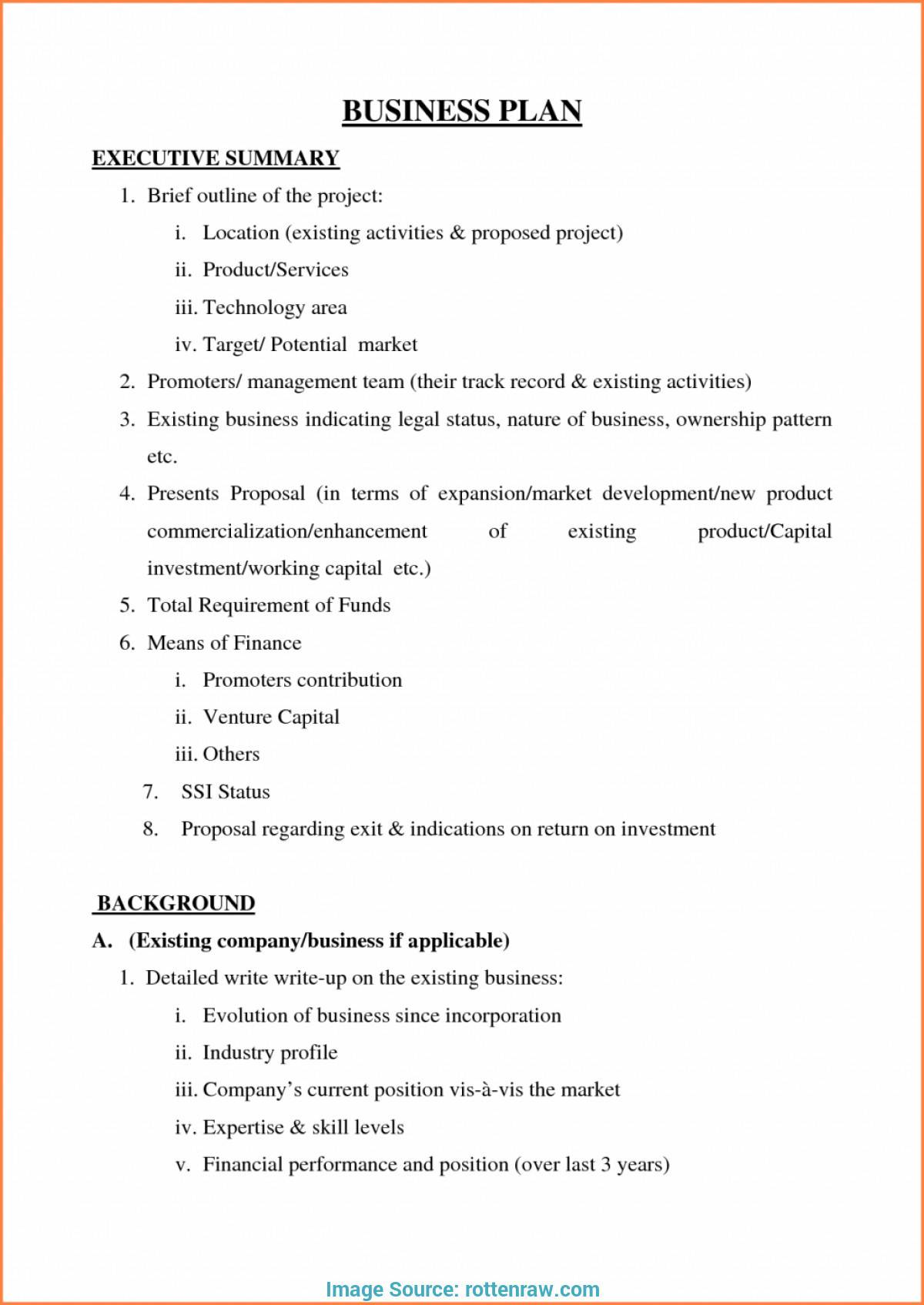 Small Business Plan Template Free Pdf