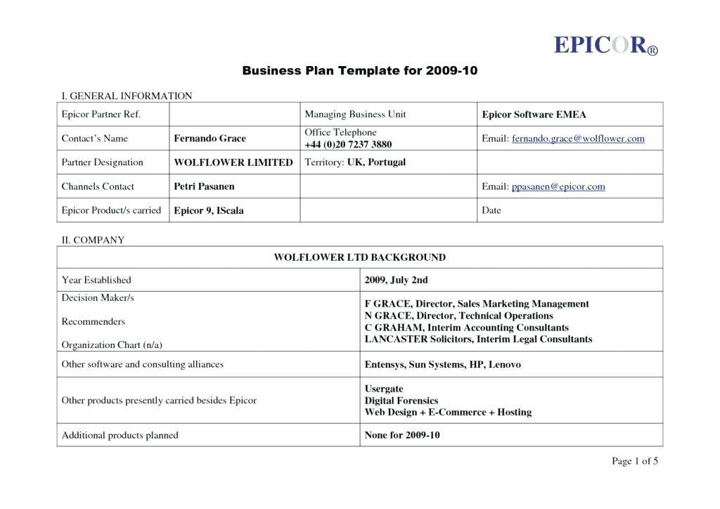 Small Business Plan Template South Africa