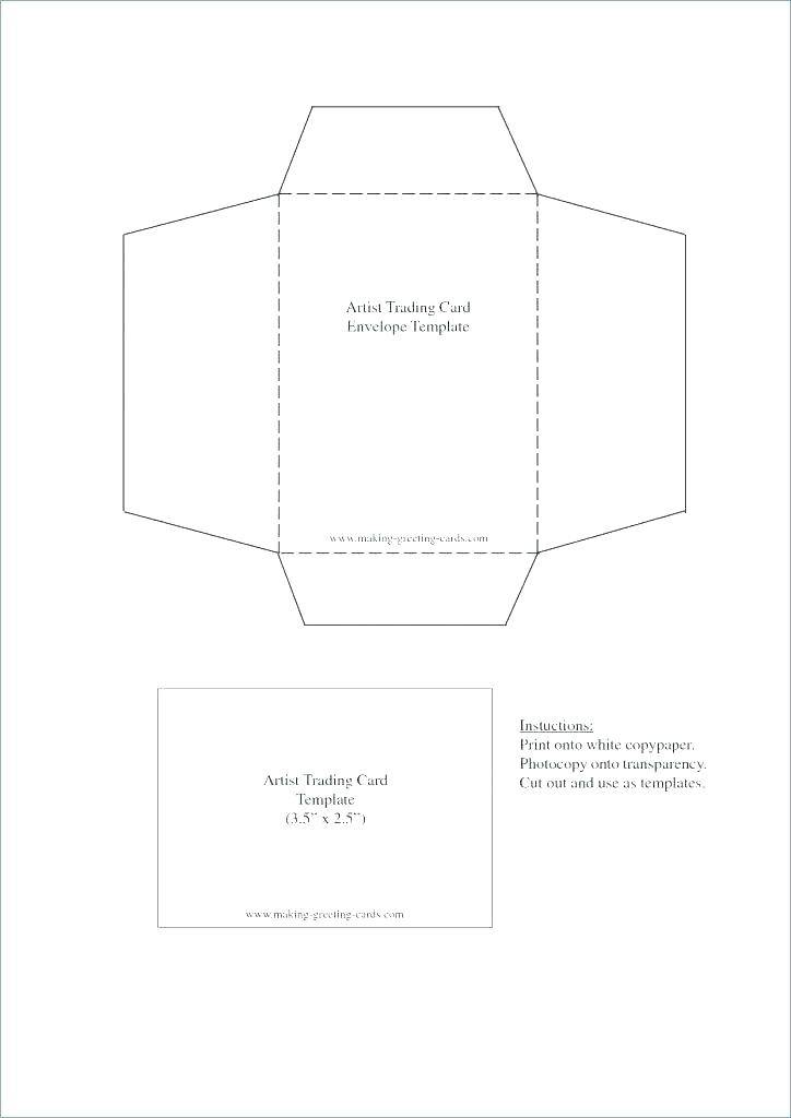 Small Gift Envelope Template