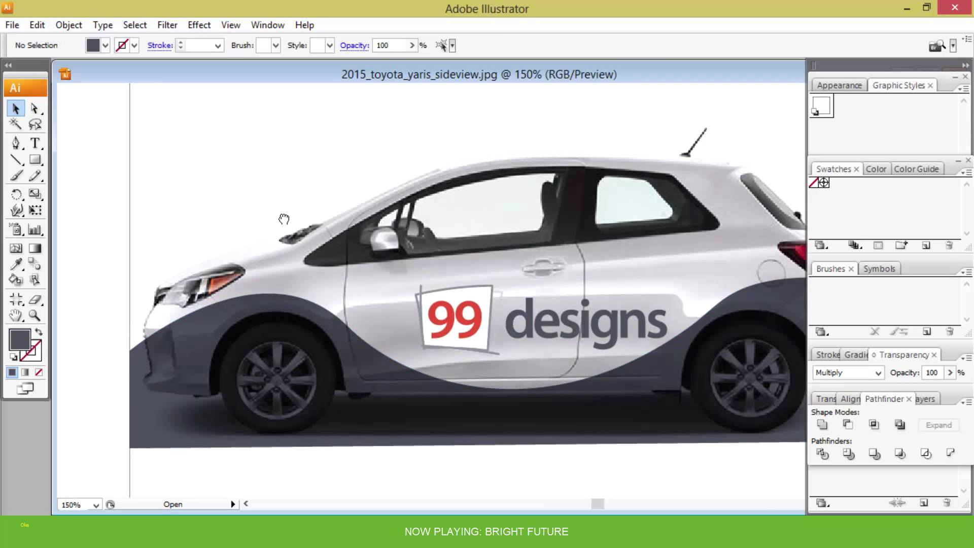 Smart Car Vehicle Wrap Template
