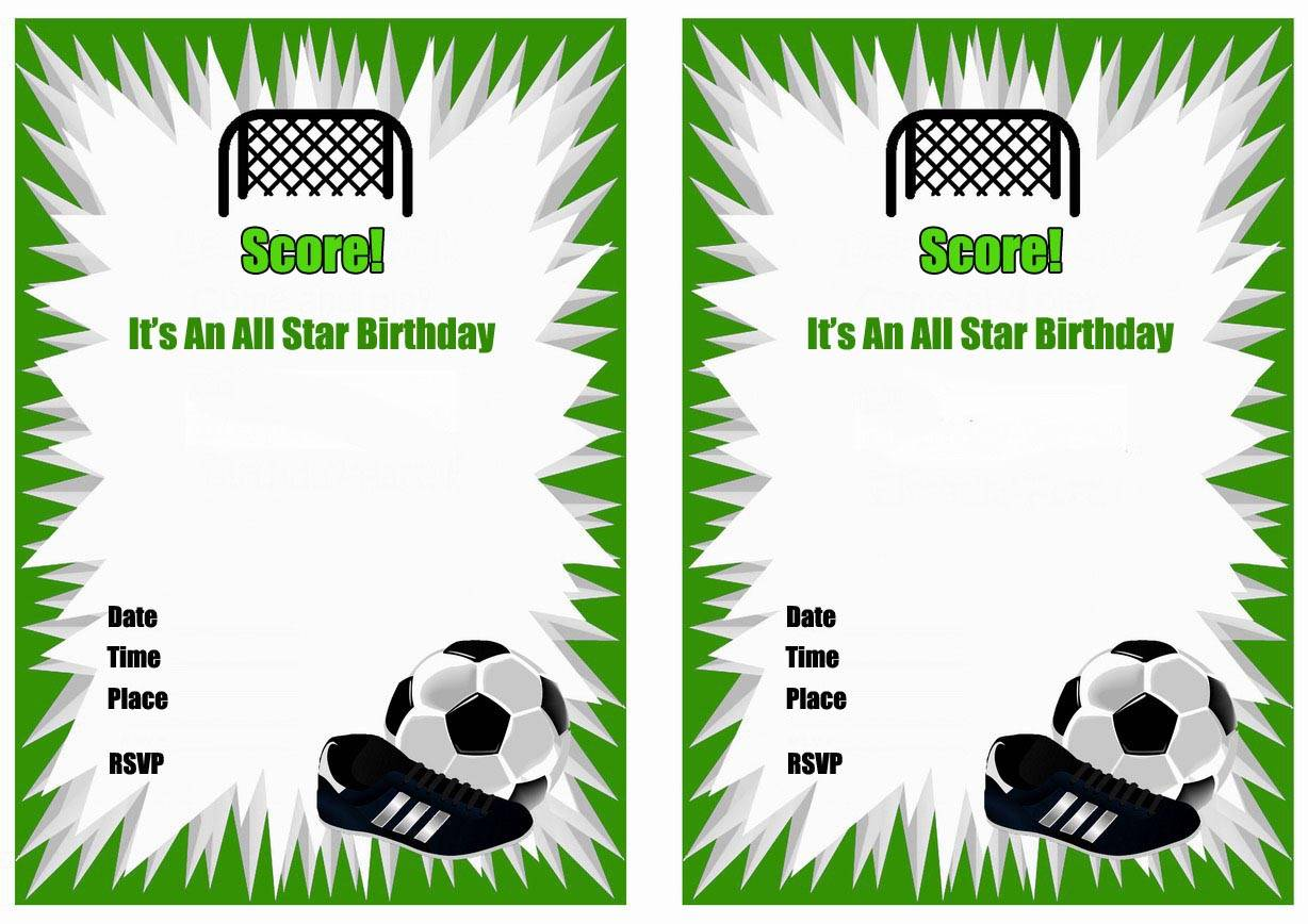Soccer Birthday Invitation Template Free