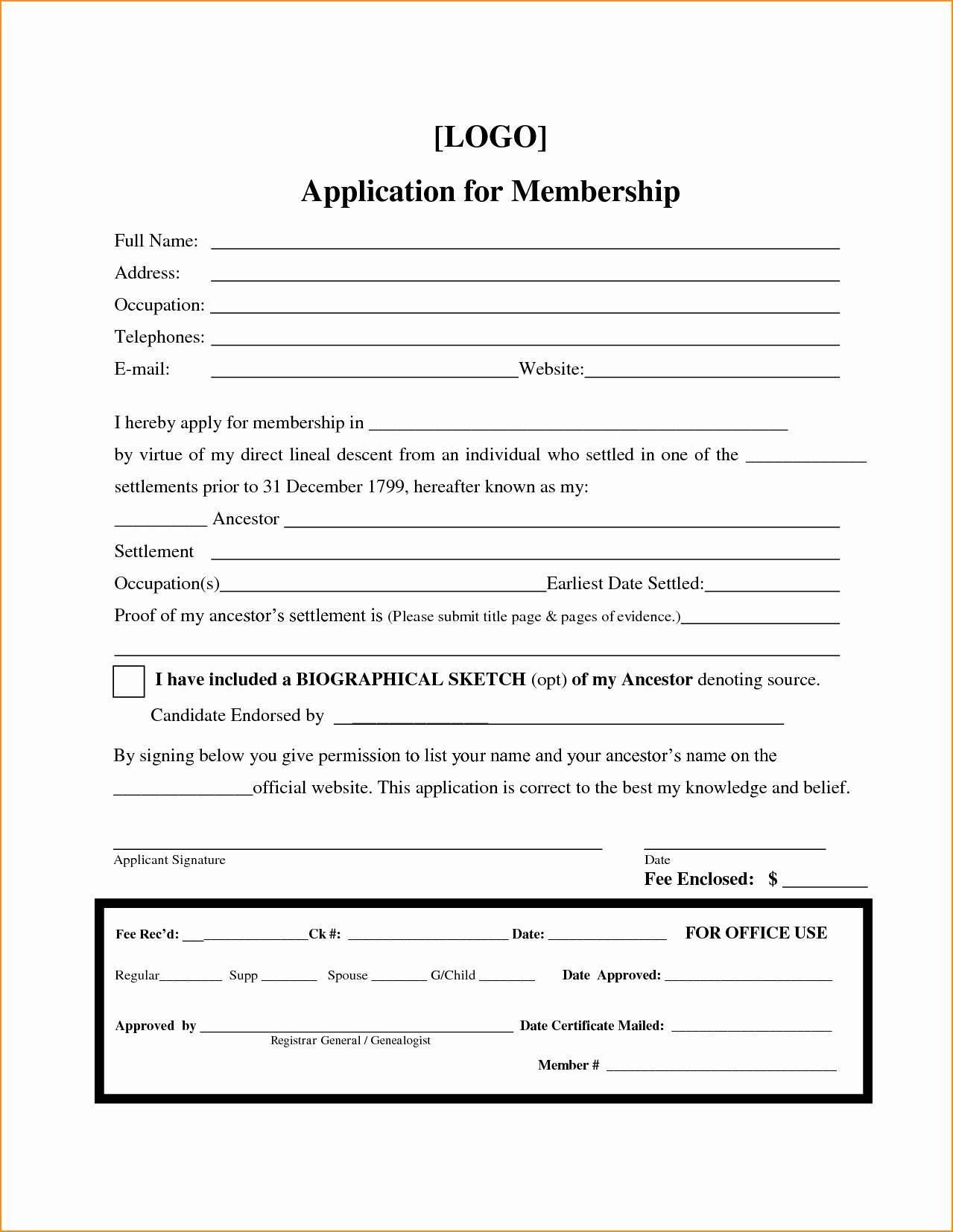 Soccer Club Registration Form Template