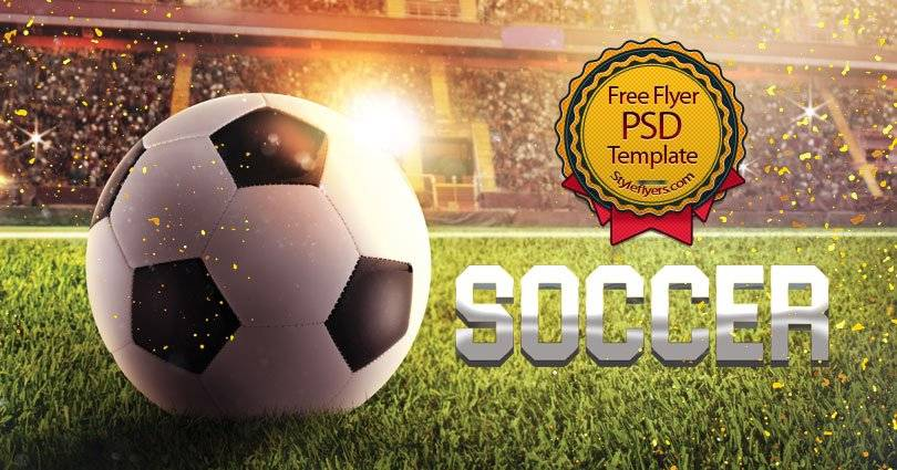 Soccer Flyer Template Psd Free