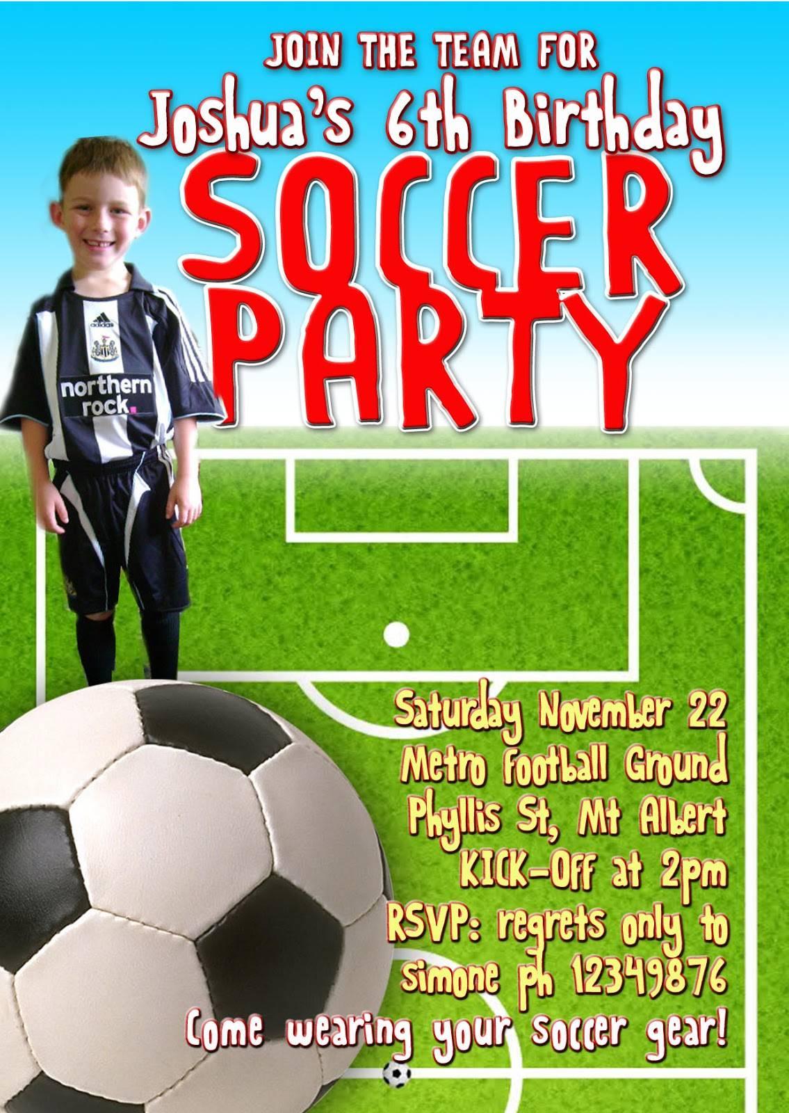 Soccer Game Invitation Template
