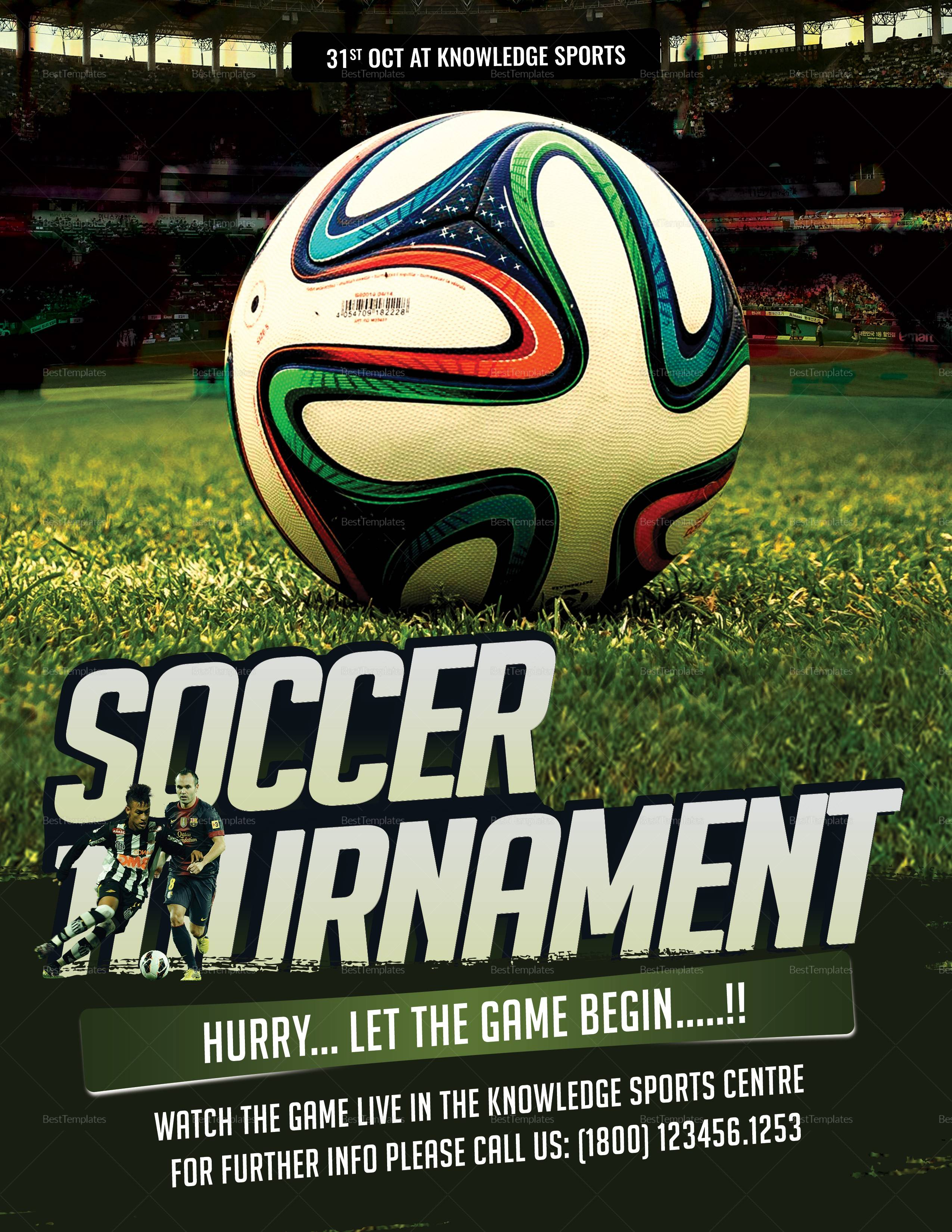 Soccer Tournament Flyer Template Free