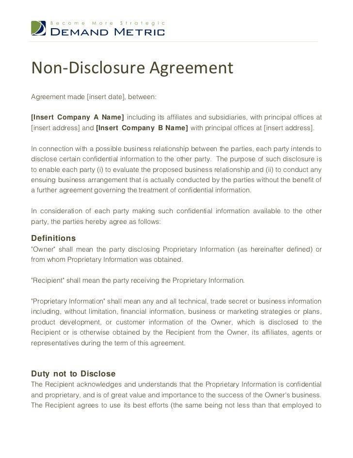 Software Development Nda Agreement Template