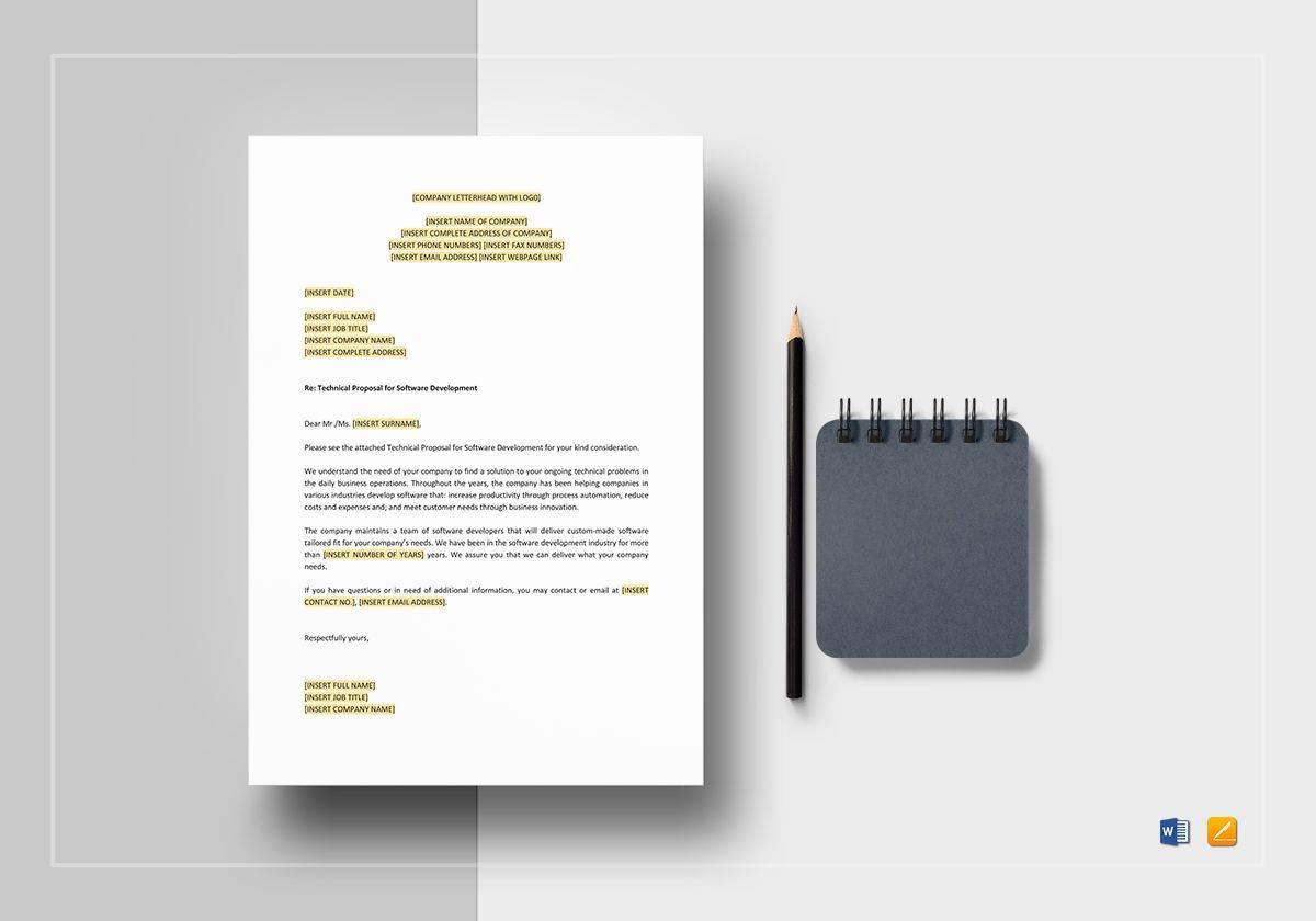 Software Development Technical Proposal Template