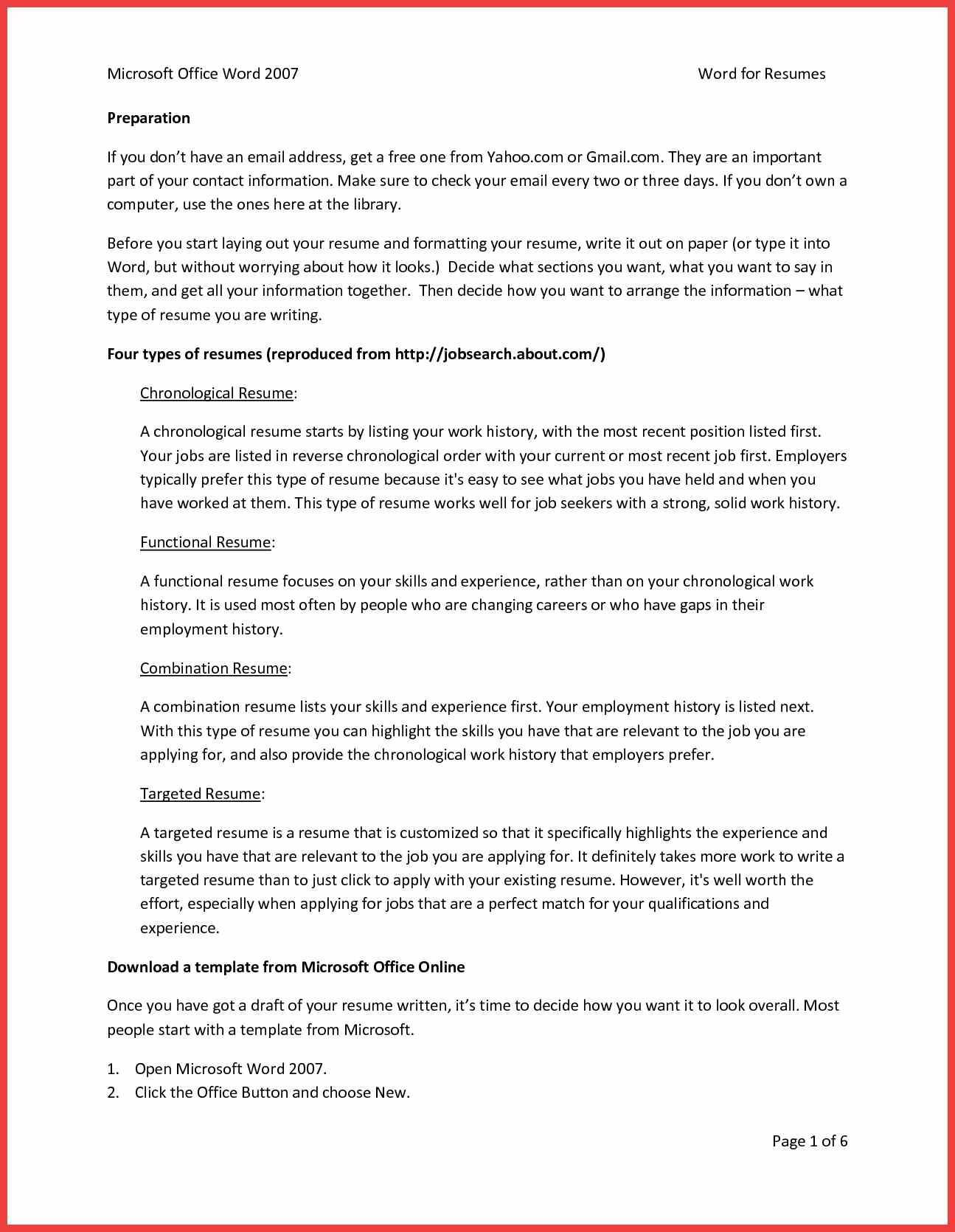 Software Engineer Cv Template Microsoft Word